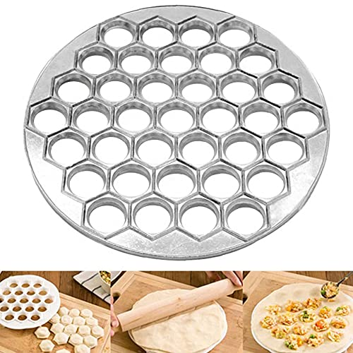Ksopsdey Dumpling Mold, stampo per ravioli, 37 fori stampo per ravioli in lega di alluminio,per...