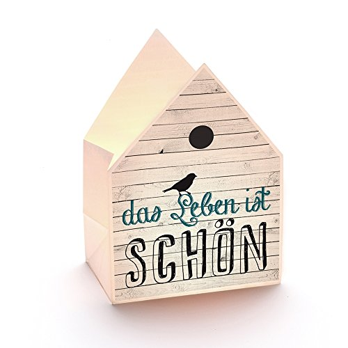Good old Friends Windlicht Papier-Tüte Weiss-blau-schwarz 12,5x17x8cm Einheitsgröße