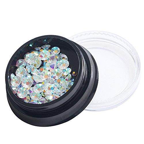 PhantomSky 3D Ongles Décor Strass Glitter en Acrylique Rhinestone Décorations Bricolage Art Design Accessoires Décoration d'Ongle - Diamant Transparent