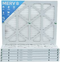18x24x1 Merv 8 Pleated AC Furnace Air Filters. Box of 6 | Actual Size: 17-1/2 x 23-1/2 x 7/8