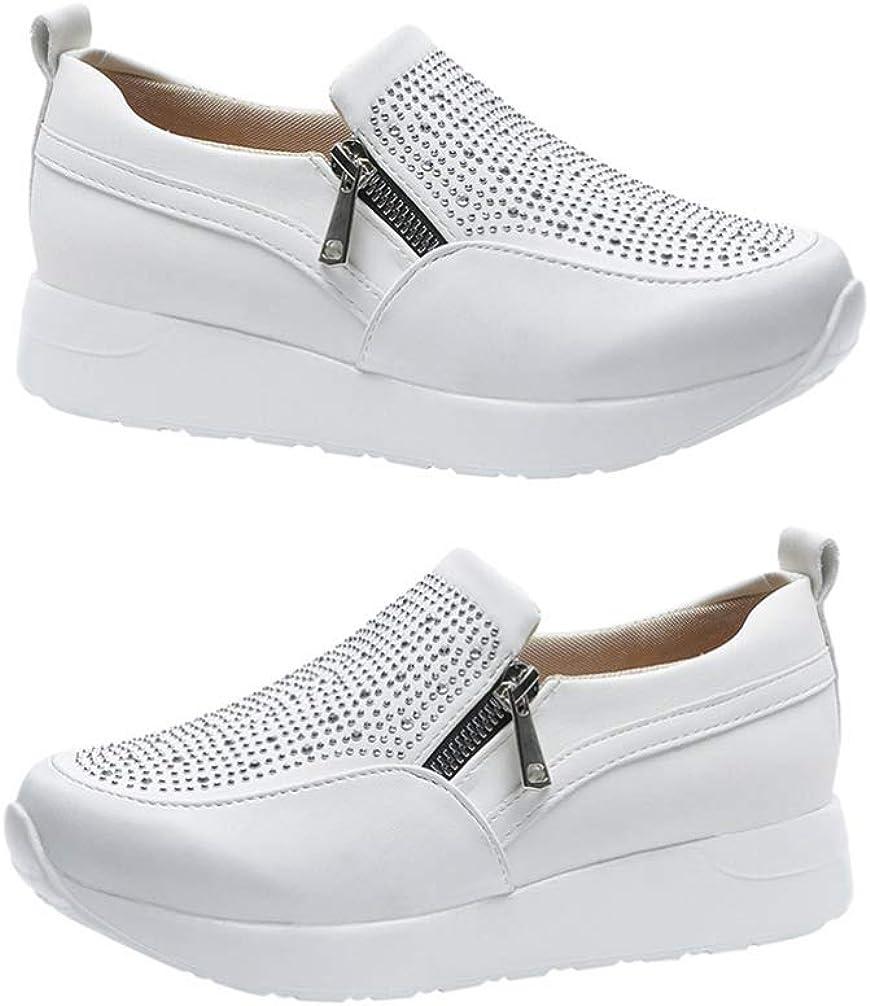 Holibanna Zapatillas de Deporte de Diamantes de Imitación Zapatos Deportivos Casuales Zapatos Cómodos para Caminar Zapatos de Plataforma para Mujeres Niñas Damas 1 par
