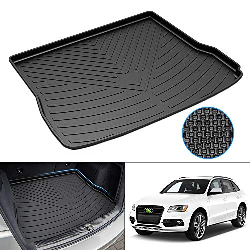 Mixsuper Cargo Liner for 2016 2017 SQ5 TPO All Weather Rear Durable Odorless 3D Upgrade Anti-Slip Trunk Floor Mat Custom Fit for 2009-2017 Audi Q5 (No Hybrid) / 2014-2017 SQ5