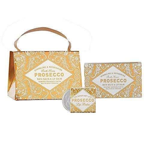 Prosecco Lip Balm and Bath Salts Handbag by Bath House