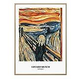 LGHLJ Der Schrei von Edvard Munch Gemäldedruck Poster