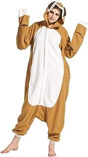 Pijama Animal marrón León Kigurumis Onesie Dibujos Animados Suave Franela Pijama Mujeres Ropa de Dormir para Adultos Invierno cálido Mono Traje de Fiesta con Capucha