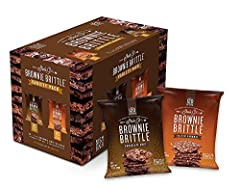 Brownie with crunch inspired by crispy edge pieces from a brownie pan, Brownie Brittle is a delicious snack with a cookie crunch. Our variety Pack includes classic chocolate chip & Salted Caramel varieties for a bit of sweet & savory for your sweet t...