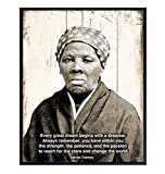 Harriet Tubman African American Wall Art Decor Print - Motivational Quote Home or Office Decoration - Inspirational Gift for Entrepreneur, Classroom, Black Civil Rights Teacher - 8x10 Poster Photo