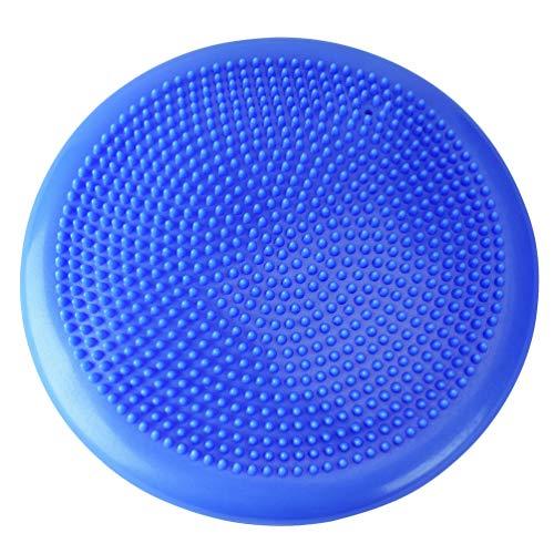 JEELINBORE Luftpumpe Gymnastikball Pilates Ball Aufblasbarer Halber Gymnastikbälle für Yoga Exercise Fitness Physiotherapie Rückenübungen - Blau (mit Luftpumpe), 34 * 34 * 5cm