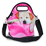iColor Insulated Neoprene Large Lunch Bag - Removable Shoulder Strap - Reusable Thermal Thick Lunch Tote Bags For Women,Teens,Girls,Kids,Baby,Adults-Lunch Boxes For Outdoors,Work,Office,School(Dog)