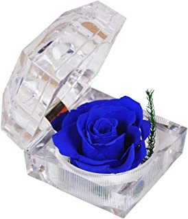 preserved rose in acrylic box