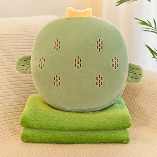 Cute Cartoon Pillow, Super Soft Plush Pillow, with Flannel Blanket