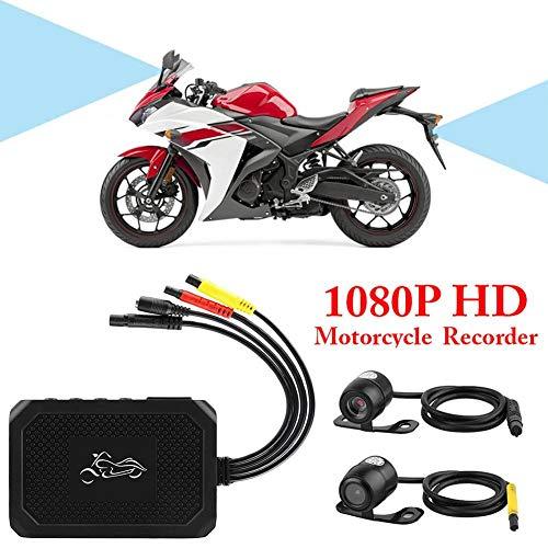 Cineman Motorrad Dashcam Motorrad Aufnahme Kamera HD 1080P Dual Lens Video Recorder Auto Sport Action Kamera Set Überspannung und Überstrom Schutz