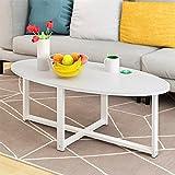 CHGDFQ Mesa auxiliar de café para sofá, mesa baja (color: blanco, tamaño: 100 x 50 cm, 1 capa)