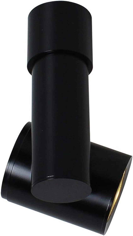 JOLLY Indoor 3   5W LED Strahler 360 ° verstellbare Decke Downlight Aufputz COB Beleuchtung LED   3000K   Aluminium Wandleuchte oder Spot Light (Wei Schwarz) (Farbe   schwarz, Größe   3W)