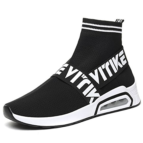 VITIKE Kinder Damen Sneakers Jungen Mädchen Sneaker Damen Sportschuhe Outdoor Schuhe Jungen Turnschuhe Laufschuhe Schnürer Freizeit Schnürer Sportschuhe Kinder Sneaker, 1-schwarz, 37 EU