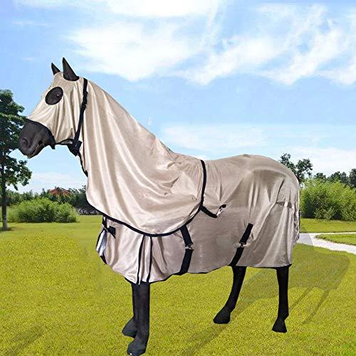 GCSEY beschermend deken voor paarden, volledige hals vliegendeken met waterdichte topline en zijrokken