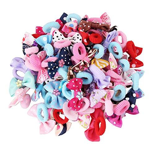 Candygirl Lot Elastique Cheveux Queue de Cheval pour Enfant Fille Mignon Accessoire de Coiffure(25 paires différents Motif par paquet )