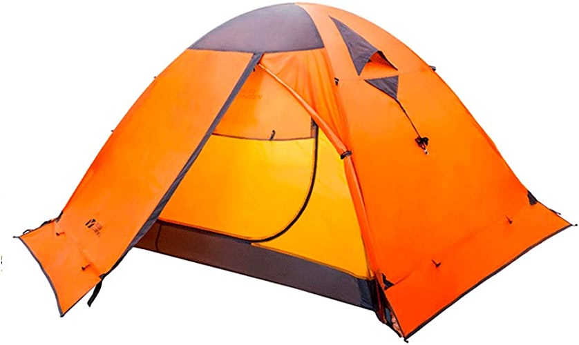 8haowenju Tente de Camping pour 2 3 Personnes, Tente à Dos, Double Pont, auvent de Camping, Haute qualité