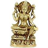 Gangesindia Lakshmi Goddess of Wealth - Brass Statue