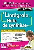 L'intégrale de la Note de synthèse - Catégories A et B - Concours 2019-2020