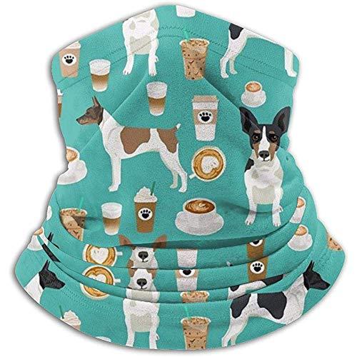 Regan Nehemiah Ratte Terrier koffie hond huisdier ras geschenken hond nekverwarmer gamas bivakmuts skimasker gezichtsmasker hoeden hoofddeksels