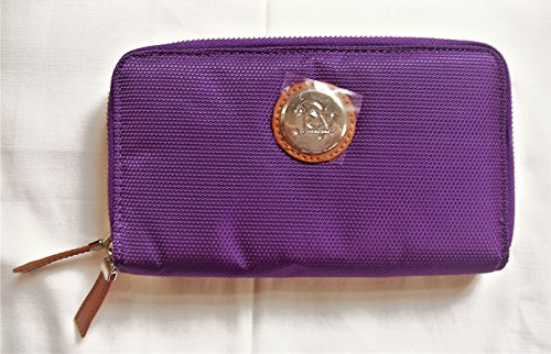 Joy Mangano, TuffTech Luggage Double Wallet with RFID Protection, Purple