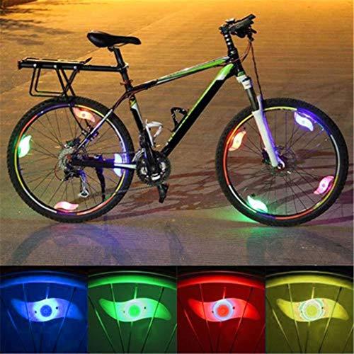 Fahrrad Sprach Lichter Fahrradbeleuchtung Speichenlichter,Fahrradfelgenlichter Radnabenlicht mit 6er Pack Batterien für Fahrraddekoration Fahrrad Zubehör Beleuchtung (A)