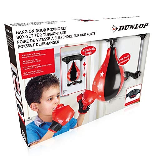 DUNLOP Kinder-Boxingset für die Tür Boxsack Boxbirne Punchingball