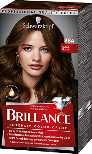 Brillance Intensiv-Color-Creme Haarfarbe 884 Kakaobraun Stufe 3, 3er Pack(3 x 160 ml)