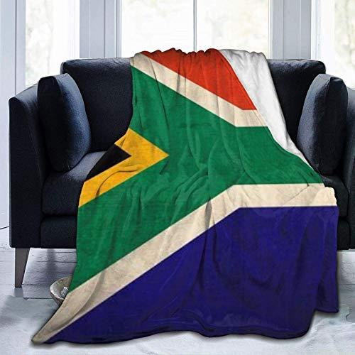 Vintage s¨¹dafrikanische Flagge nach Hause Ultra Soft Throw Decke Bett Flanell Fleece ganzj?hrig leichtes Wohnzimmer/ Auto/Reise/B¨¹ro warme Decke f¨¹r Kinder Teenager Erwachsene 50