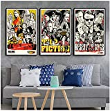 XMYC Nordic Style Kill Bill Pulp Fiction Quentin Tarantino Film Poster and Prints Pictures for Living Room Home Decor3 Piece 60x80cm no Frame