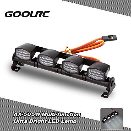 GoolRC Original GoolRC AX-505W Multi Funktions Ultra Bright LED Lampe Licht für 1:8 1:10 HSP Traxxas TAMIYA CC01 4WD Axial SCX10 Monster Truck Short Course RC Auto
