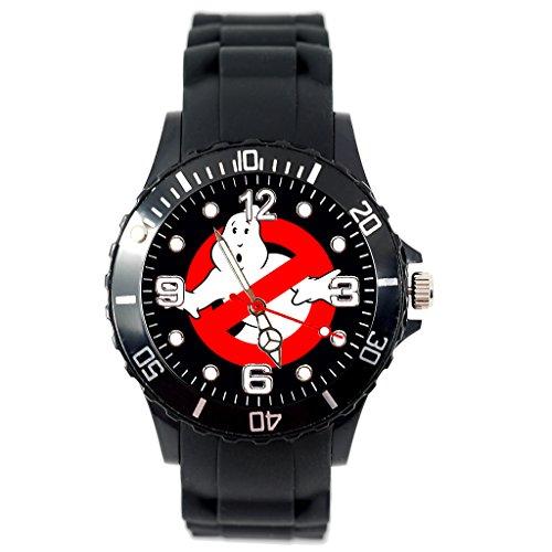 TAPORT® Quartz Horloge Zwart Siliconen Band voor Ghost Busters Fans