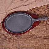 QWEZXC Bratpfanne aus Gusseisen mit flachem Boden Unbeschichtete Antihaft-Pfanne, eingedickt aus Gusseisen Pfannkuchen Steak Steak Induktionsherd Universal