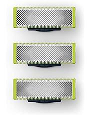 Philips OneBlade Ersättningsrakblad - 3-pack - Passar på alla OneBlade-handtag - Livslängd upp till fyra månader - QP230/50