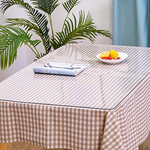 Doorzichtige plastic transparante tafelkleedbeschermer Heavy-Duty 100% waterdicht PVC transparant tafelkleed rechthoekig Geweldig voor keuken Dinning tafelbladdecoratie,50X100CM/20X39Inch