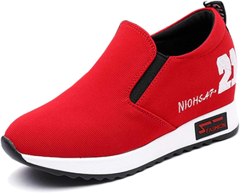 Yudesun Casual Slip On Canvas shoes - Women Fashion Running Sports Platform Ankle Non Slip Casual shoes Wild Shorts Sportswear