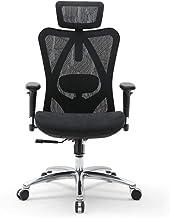 SIHOO 人間工学オフィスチェア 通気性 メッシュ ハイバックサポートクッション 3D昇降アームレスト 調節可能ヘッドレスト 事務椅子