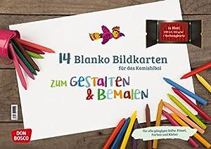 SELBST GESCHICHTEN ERFINDEN: Mit den blanko Bildkarten ist es möglich, seine eigene Geschichte fürs Kamishibai zu entwerfen. Die Bildkarten können individuell gestaltet werden. Für Kinder ab 3 Jahren. FESTE BÖGEN: Die 14 rein-weißen Bögen im DIN A3 F...