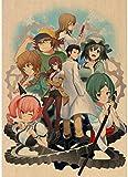 HANJIANGXUE Carteles De Lona 31 Diseños Anime Steins Gate Poster Homedecal Pintura Etiqueta De La Pared para Coffee House Bar50 * 70 Cm Fuerte Durabilidad