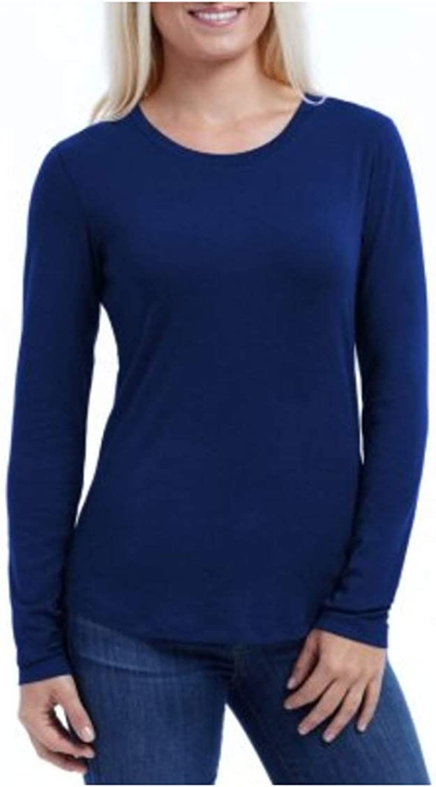 Eddie Bauer Ladies Long T-Shirt Scoop Free shipping anywhere in the nation Weekly update Sleeve Neck