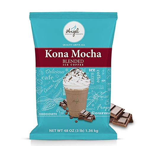 Angel Specialty Products Blended Ice Coffee Instant Powder Barista Drink Mix, KONA MOCHA [3 LB] [34 SERVINGS]