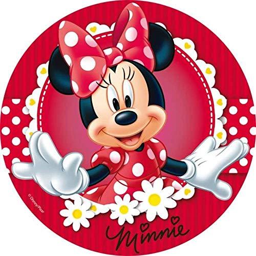 Minnie Mouse Thema Runde Tortenaufleger 20CM - Geburtstag Tortenbild Zuckerbild Tortenplatte Oblate Kuchenzuckerplatte