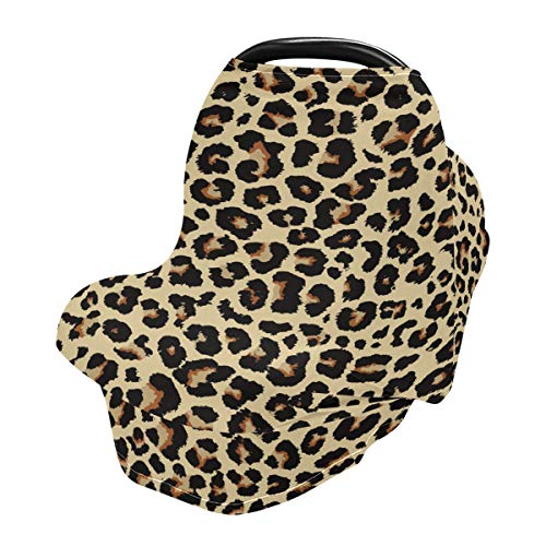 Nursing Cover Breastfeeding Scarf Cheetah Leopard- Baby Car Seat Covers, Infant Stroller Cover, Carseat Canopy for Girls and Boys(i)