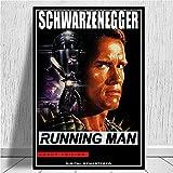 Impresión de lienzo 60x90cm Sin marco Póster de película de Arnold Schwarzenegger, cuadros artísticos en lienzo para la decoración del hogar de la sala de estar