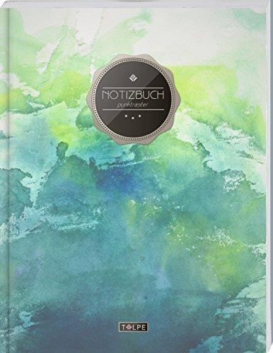 """TULPE Punktraster Notizbuch A4 """"C003 Grunge"""" (140+ Seiten, Vintage Softcover, Punktkariertes Papier - Bullet Journal, Dickes Notizheft, Skizzenbuch, Tagebuch, Gepunktete Seiten, Dot Grid Notebook)"""