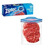 Ziploc Freezer Bags with New Grip 'n Seal Technology, Quart, 19 Count