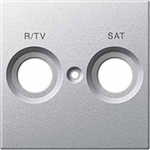 Schneider Electric MTN299260 stekkerdoos R-TV/SAT, aluminium