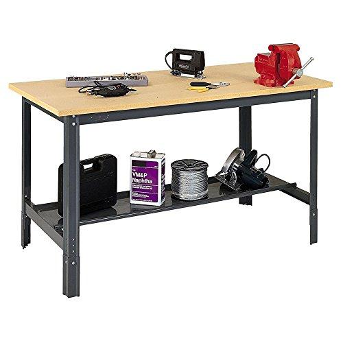 "Edsal UB700 Steel Economy Work Bench with 1"" Flake Board, 60"" Width x 29"" Height x 30"" Depth, Industrial Gray"