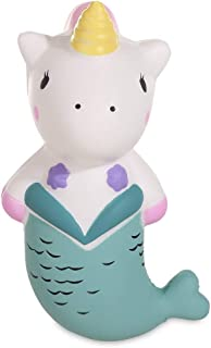Anboor 5.9 Inches Squishies Unicorn Mermaid Kawaii Soft Slow Rising Scented Horse Animal Squishies Stress Relief Kid Toys Gift Collection